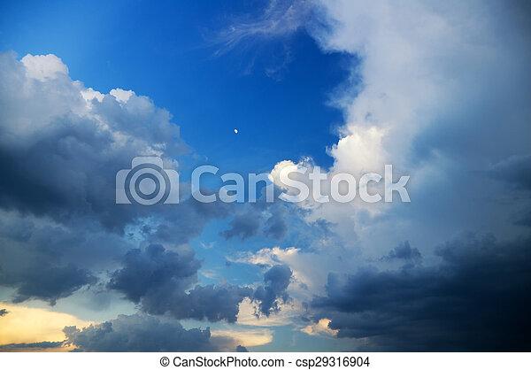 Dark storm clouds - csp29316904