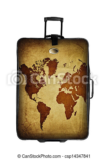 Dark suitcase with world map isolated over white dark suitcase with dark suitcase with world map isolated over white csp14347841 gumiabroncs Image collections