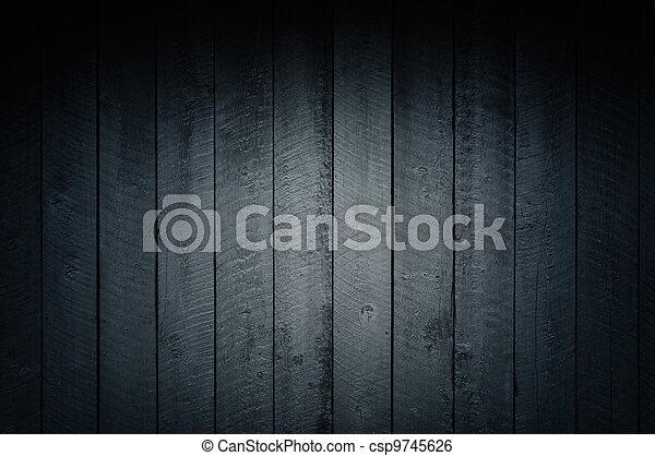 Dark texture of wooden planks. - csp9745626