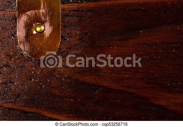 Dark Weathered Teak Wood With Copper   Csp53256716