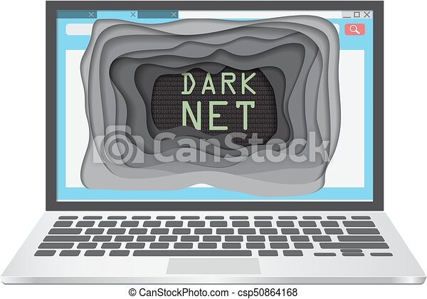 Dark web concept vector illustration - csp50864168