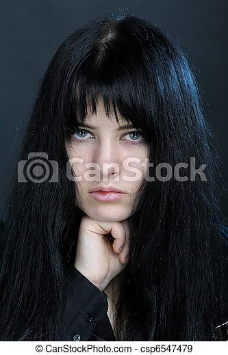 Dark woman - csp6547479