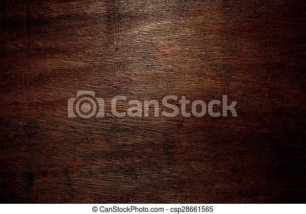 Dark wood background - csp28661565