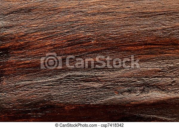 Dark wood background - csp7418342