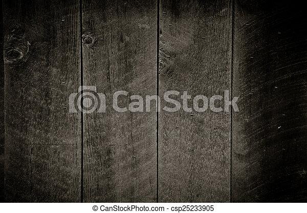 Dark Wood Background - csp25233905