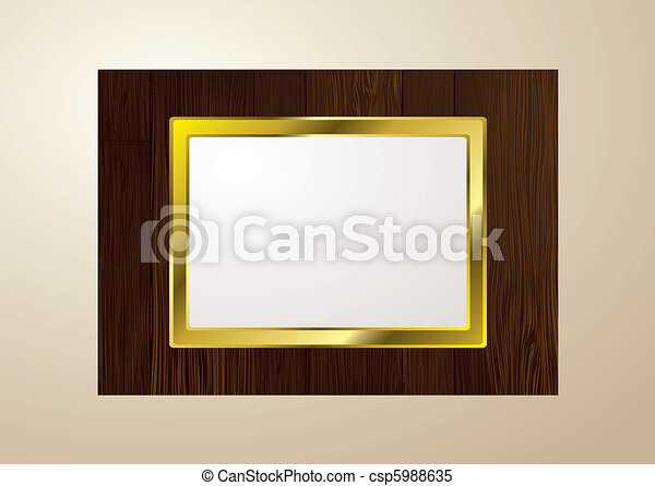 Dark wood picture frame. Dark brown wood picture frame with grain ...