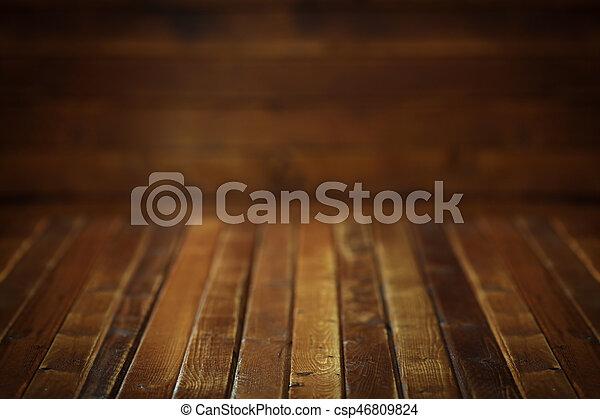 Dark wooden background - csp46809824
