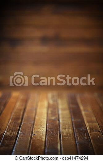 Dark wooden background - csp41474294