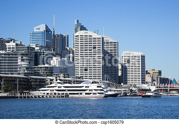 Darling Harbour, Sydney. - csp1605079