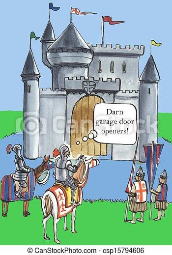 Darn garage door openers! - csp15794606