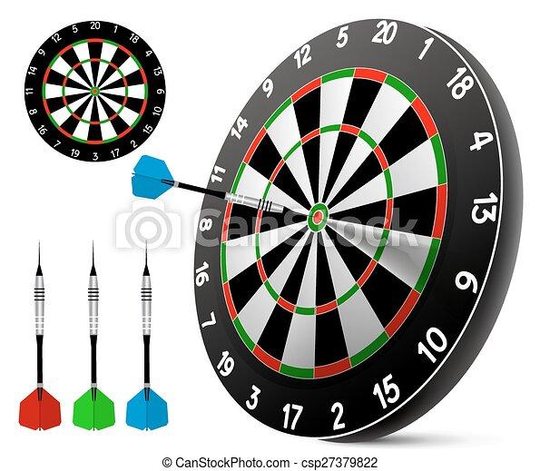 Dart and dartboard - csp27379822