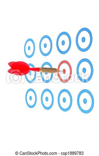 Dart arrow hit the target - csp1889783