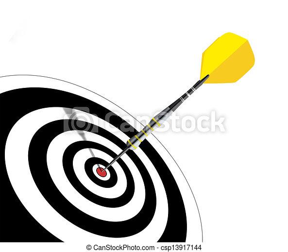 dart arrow hits its target - csp13917144