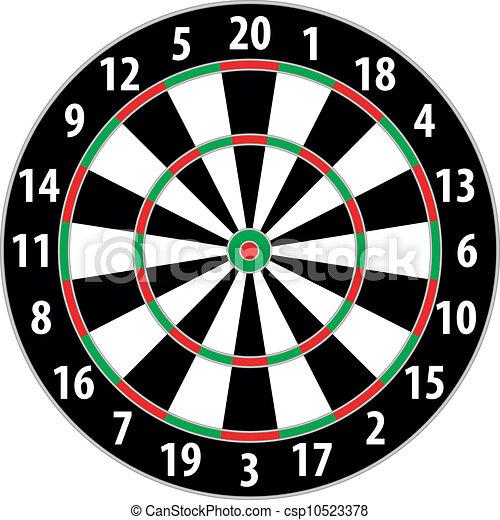 dart board - csp10523378