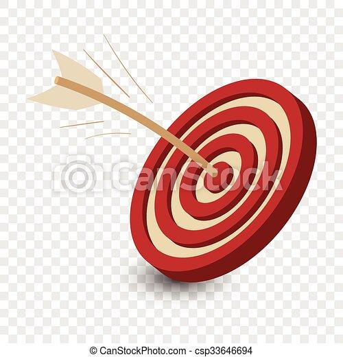 Dart in the target cartoon  - csp33646694