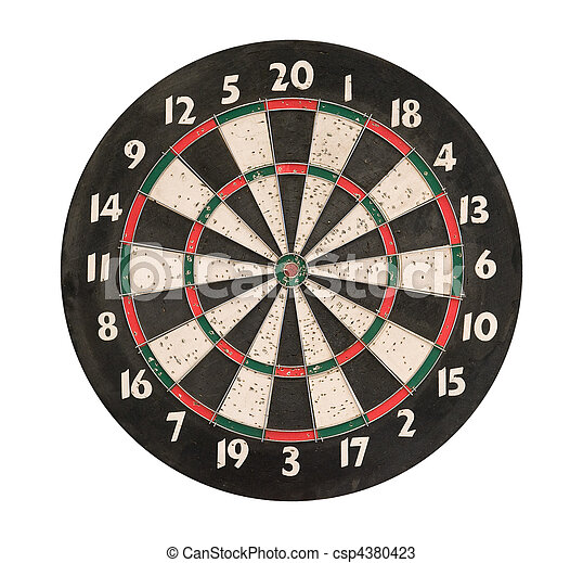 Dartboard isolated, clipping path. - csp4380423