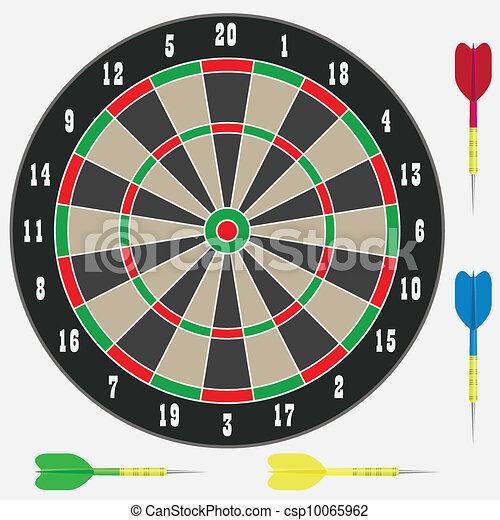 Dartboard with darts. - csp10065962