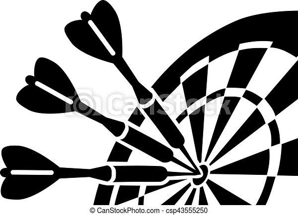 Dartboard with Darts - csp43555250
