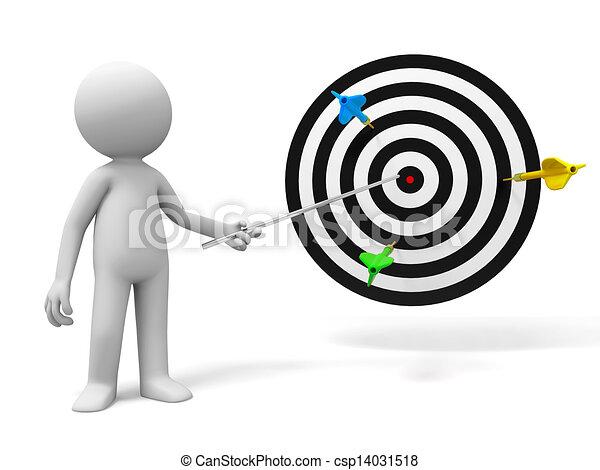 Darts and target - csp14031518