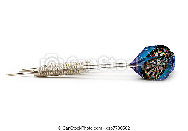 Darts arrows isolated on white background  - csp7700502