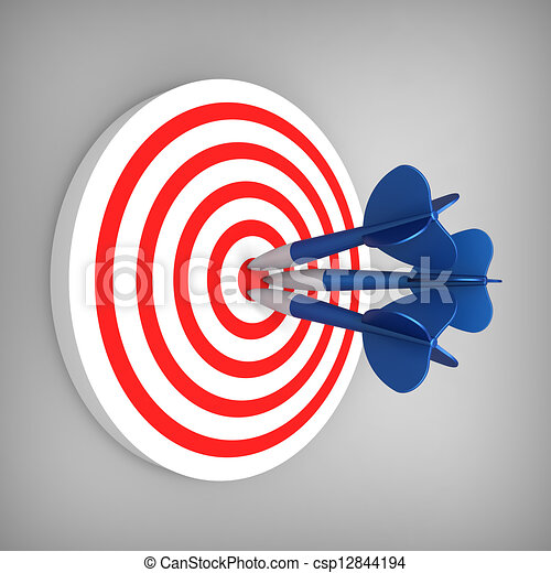 Darts hit accurate on the target - csp12844194