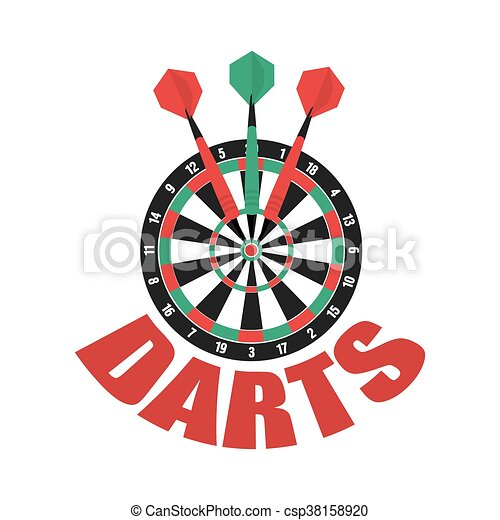 Darts label. Badge Logo. Darts sporting symbols. - csp38158920