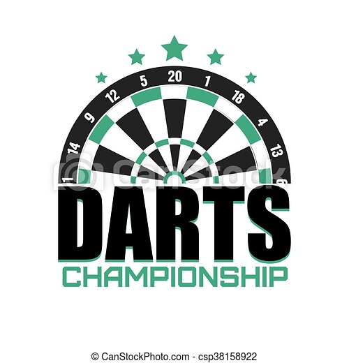 Darts label. Badge Logo. Darts sporting symbols. - csp38158922