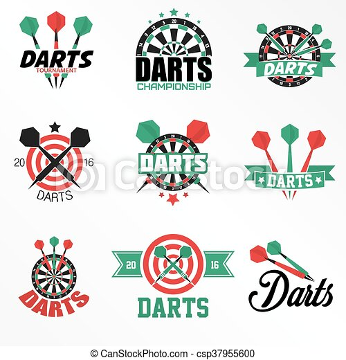 Darts Labels and Icons Set. - csp37955600