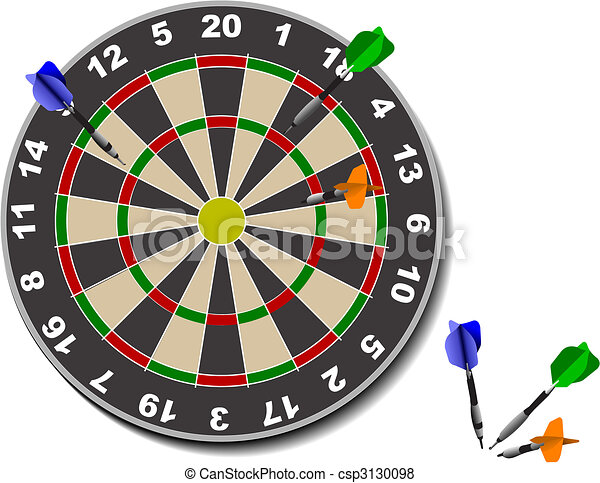 Darts. Office game - csp3130098