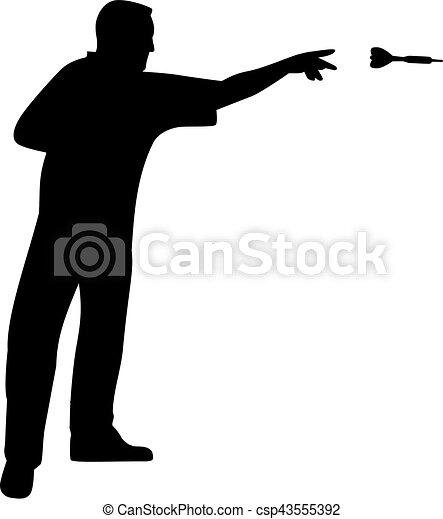 Darts Player Throwing - csp43555392