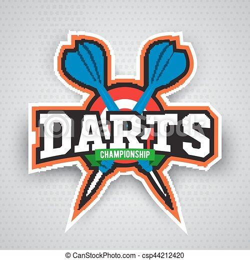 Darts porting logo and leisure design. - csp44212420
