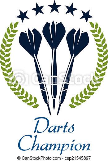 Darts shampion sporting emblem - csp21545897