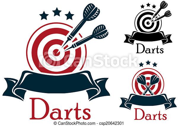 Darts sport emblem - csp20642301