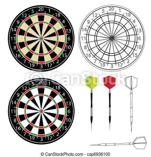 Darts vector - csp6936100