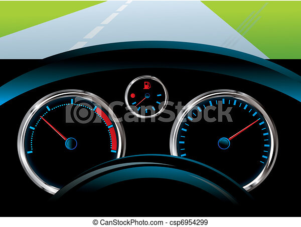 Dashboard Car Tachometer Speedometer And Fuel Level Eps - Car image sign of dashboardcar dashboard icons stock photospictures royalty free car