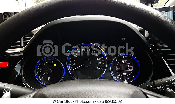 Dashboard controller status of hi-tech car