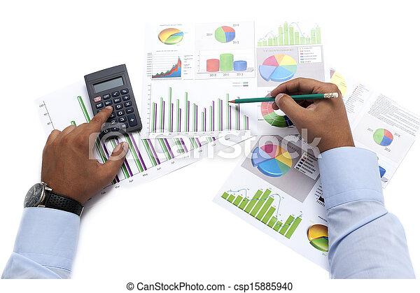 data, analyserer, firma - csp15885940