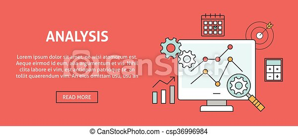 Data analysis concept banner - csp36996984
