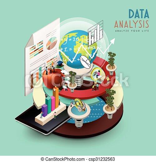 data analysis concept - csp31232563