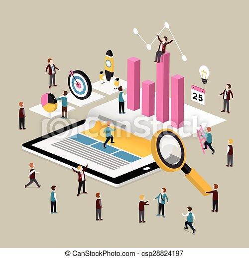 data analysis concept - csp28824197