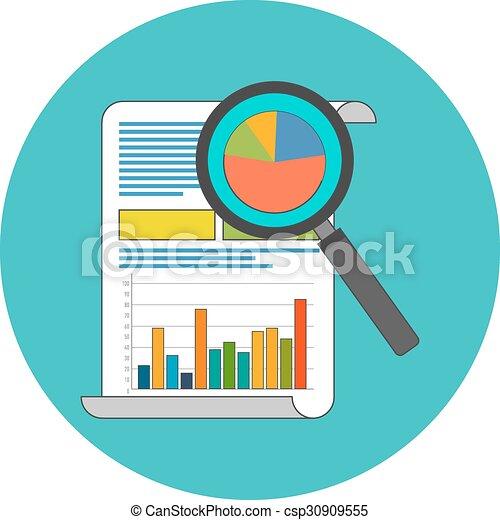 Data analysis concept. Flat design. - csp30909555
