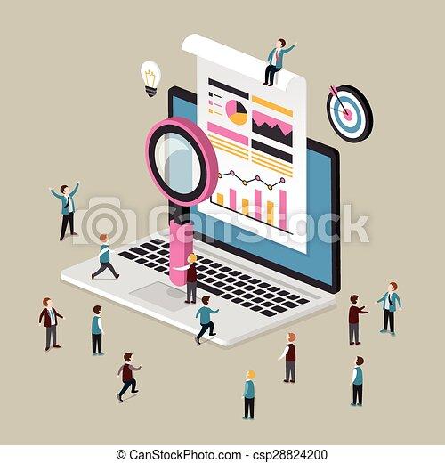 data analysis concept - csp28824200