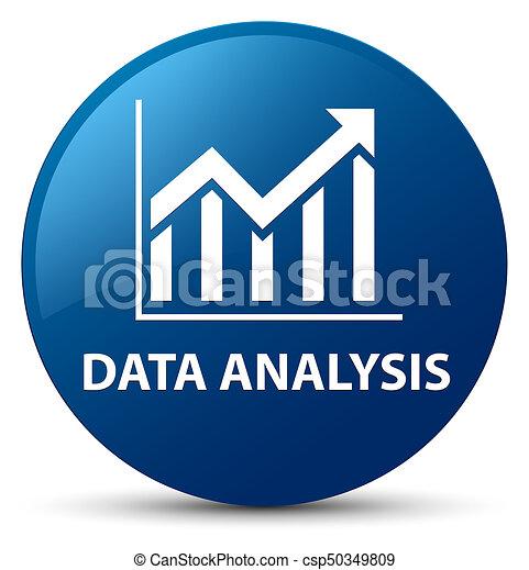 Data analysis (statistics icon) blue round button - csp50349809
