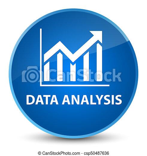 Data analysis (statistics icon) elegant blue round button - csp50487636