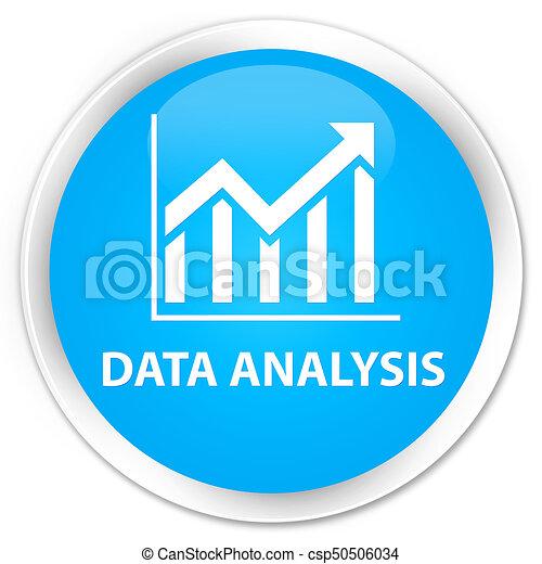 Data analysis (statistics icon) premium cyan blue round button - csp50506034