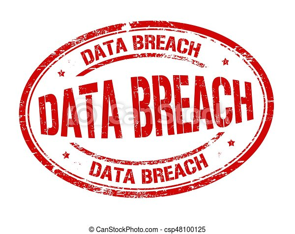 Data breach sign or stamp - csp48100125