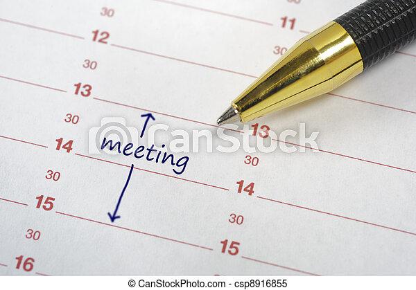 data, calendario, riunione - csp8916855