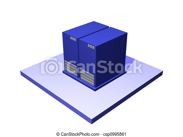 Data Center a Logistics Supply Chain Diagram Object - csp0995861
