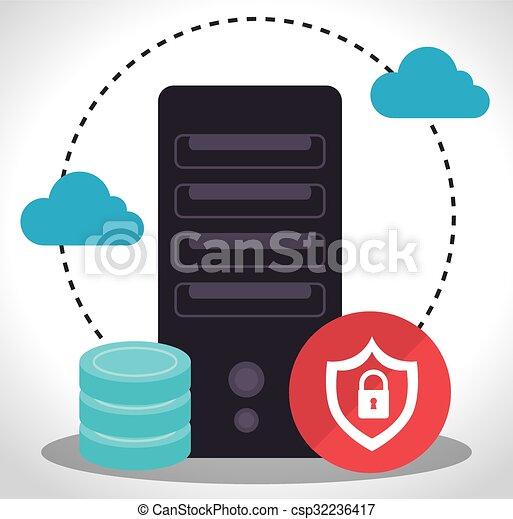 Data center security system  - csp32236417
