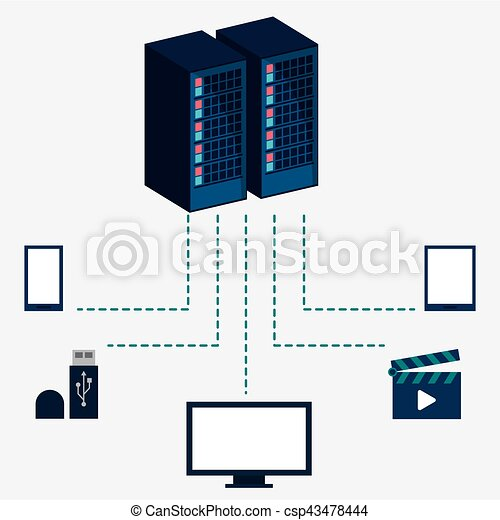 data center server equipment storage information - csp43478444